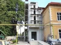 Pavilionul secției ORL a Spitalului Județean Sibiu,în plin proces de modernizare și extindere | VIDEO