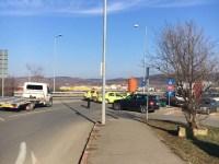 Accident la viaductul Vasile Aaron. O sibiancă a ajuns la spital | FOTO