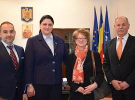 Prefectul și subprefectul s-au întâlnit cu noul ambasador al Austriei