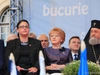 Prefectul Adela Muntean și primarul Astrid Fodor / foto: Mihai Colibaba