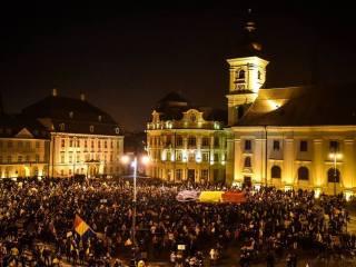 "Protest la Sibiu: ""Jos justiția paralelă!"""