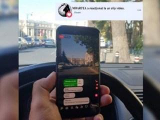 Noi reguli de circulaţie. AMENDĂ pentru cei care ţin telefonul în mână la volan sau îndrăznesc să facă LIVE-uri pe Facebook