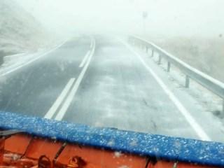 Pe DN7C se circulă în condiții de iarnă