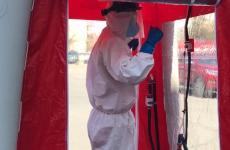 Cabină de dezinfecție performantă la secția ATI a Spitalului Județean Sibiu