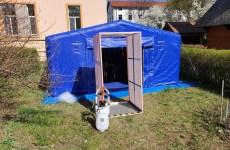 """Stație de decontaminare făcută de cei de la Universitatea """"Lucian Blaga"""" pentru spital"""