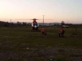 Intervenție cu elicopterul SMURD la cabana Suru