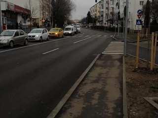 Nu este o dimineață ușoară pentru cei care circulă pe Calea Cisnădiei