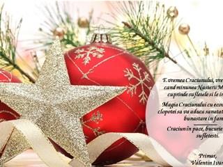 Primăria comunei Sadu vă urează Crăciun în pace, bucurie și împliniri sufletești