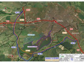 Două scenarii de traseu pentru Varianta Ocolitoare Sud Sibiu. Licitația pentru studiul de fezabilitate a fost publicată