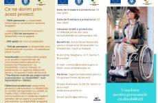 Persoanele cu dizabilități care caută un loc de muncă pot beneficia de un voucher de până la 5.000 de euro