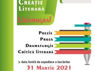 """Tinerii scriitori mai au la dispoziție trei săptămȃni pentru a se ȋnscrie la Concursul de Creație Literară """"Lirismograf"""""""