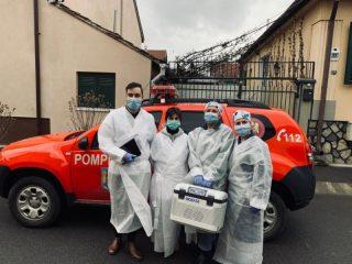Peste 200 de persoane nedeplasabile și aparținători din Sibiu au fost vaccinate de echipa mobilă
