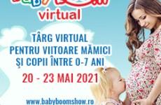 Astăzi se deschide Baby Boom Show Virtual, cel mai mare târg online pentru copii şi viitoare mămici