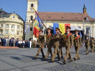 """Ceremonie la Academia Forţelor Terestre """"Nicolae Bălcescu"""" din Sibiu"""