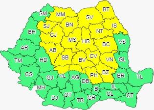 Alertă meteo. Cod galben în Sibiu. Sunt așteptate vijelii și ploi torențiale