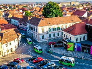 Transport public electric în centrul Sibiului. Linia Verde pornește luni. Traseu, stații, program și preț