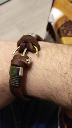 GRATUIT - Bracelet Ancre en Cuir Marron photo review