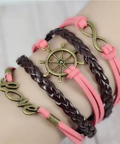 Bracelet de charme vintage multicouche modèle 7
