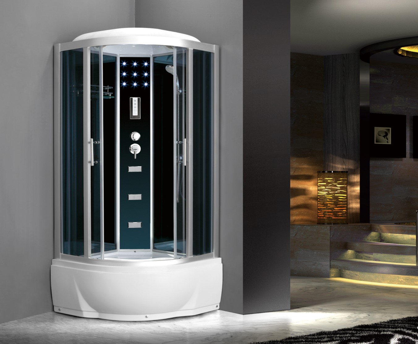 China Jet Tub Shower Combination Room With Star Lights