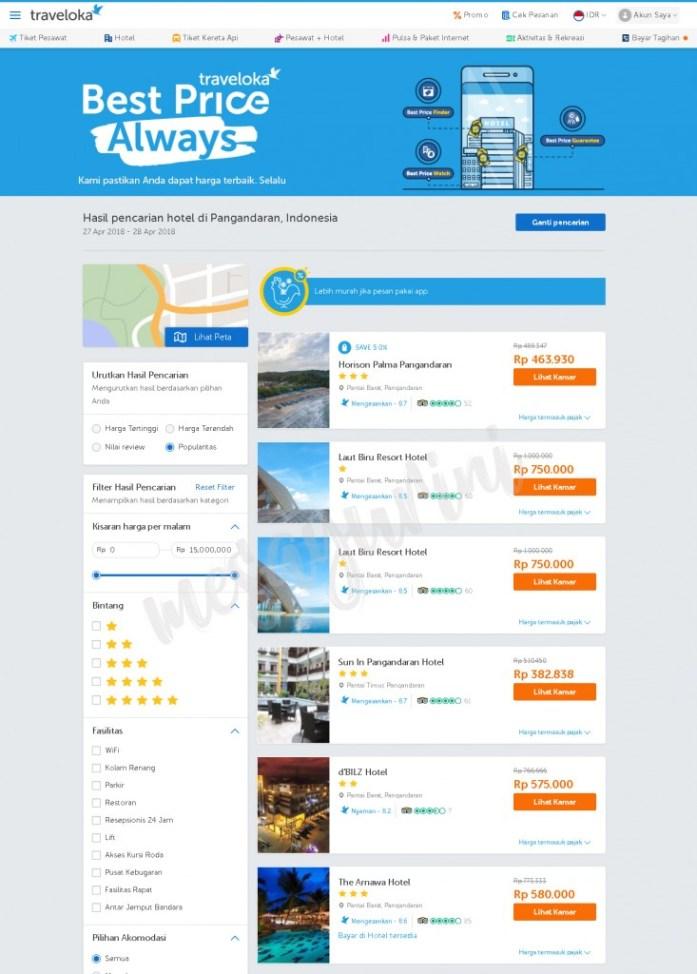 Beragam Pilihan Hotel di Traveloka