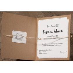 faire part mariage original marron papier recycle corde belarto romantic 726060