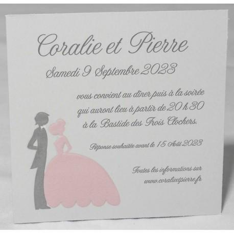 carte remerciements couple gris rose faire part select romance 59627