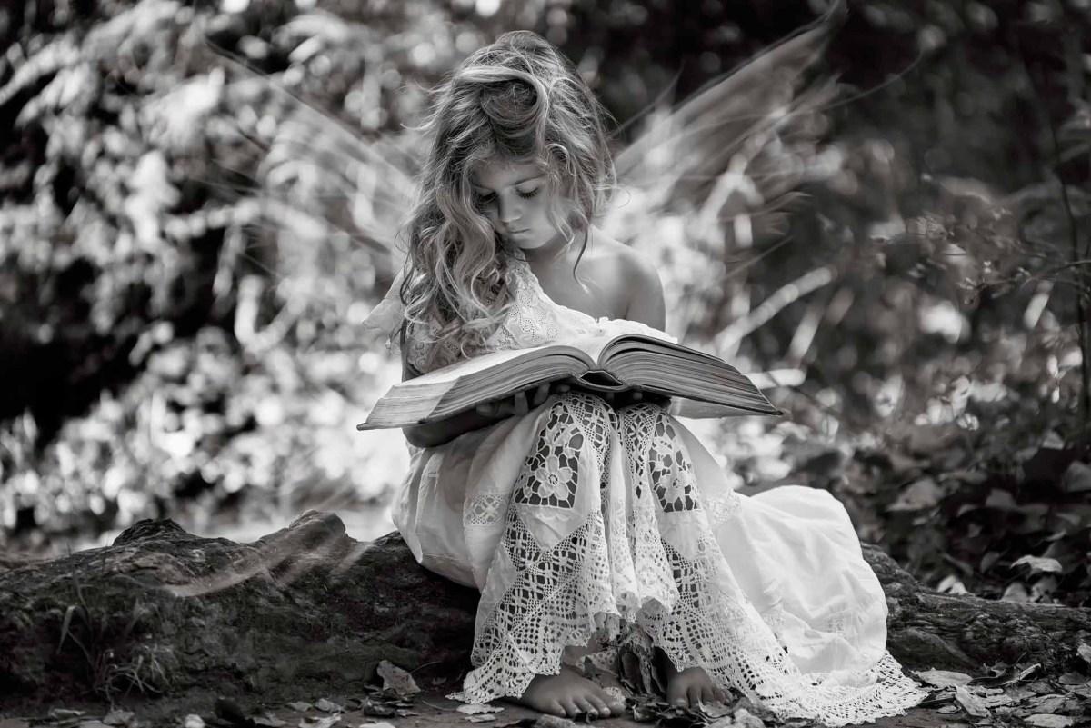 Little Girl & Book