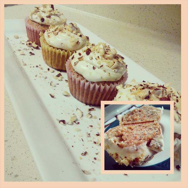 Carrot Hazelnut Cupcakes With Hazelnut Cream Cheese Frosting