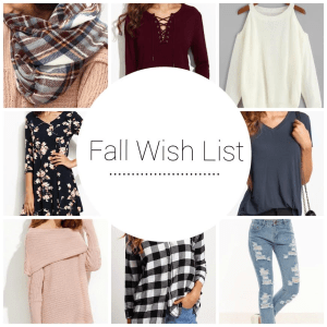 Fall Wardrobe Wish List