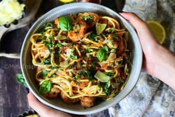 Crevettes Thaï au curry rouge