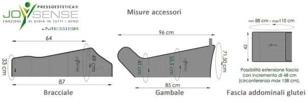 Pressoestetica JoySense misure accessori