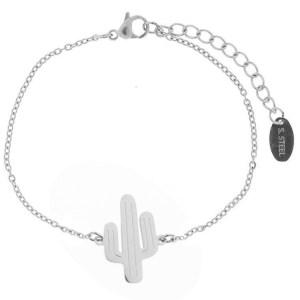armband-mini-cactus-zilver