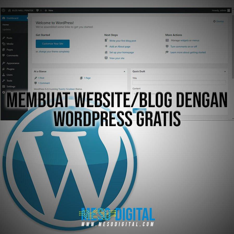 Cara membuat website wordpress secara gratis untuk pemula