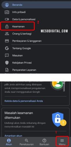 Cara mengecek keamanan kata sandi gmail