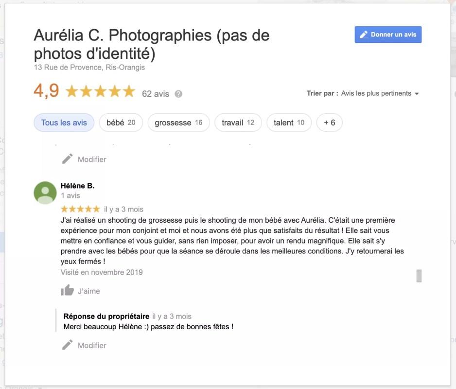 commentaires clients morceaux choisis aurelia c photographies