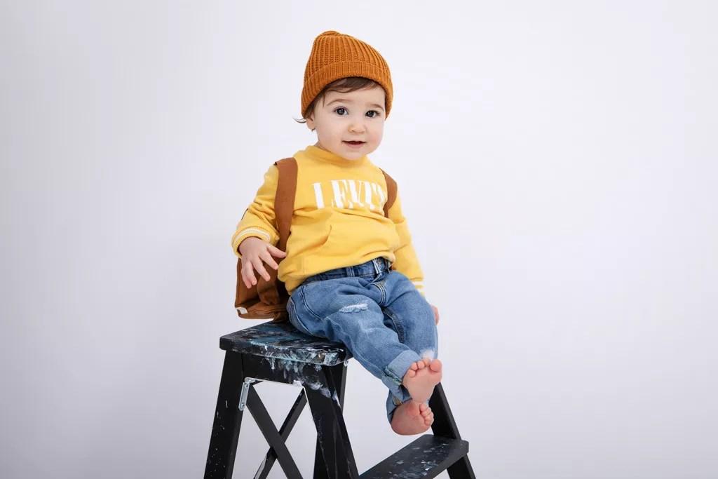 bébé pose mode séance photo anniversaire
