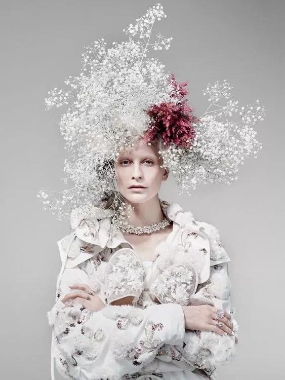 idees accessoires photo grossesse fleurs