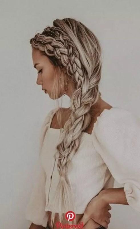 tresses cheveux long blond