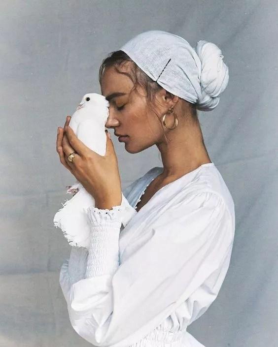 idees accessoires photo grossesse foulard