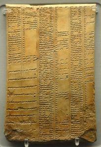 440px-library_of_ashurbanipal_synonym_list_tablet