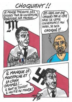 DUF dessinateur macron nazi