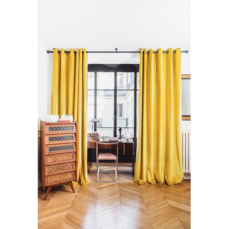 rideaux jaune moutarde avec quelles