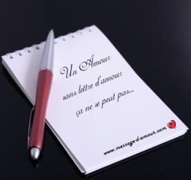 Lettre d'amour pour declaration d'amour