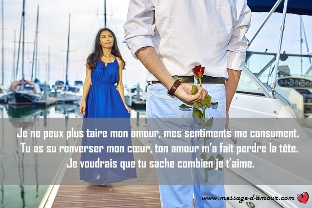 déclaration d'amour romantique