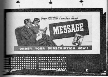 Message Billboard 1956