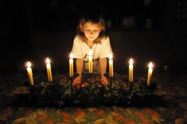 Celebration with candles