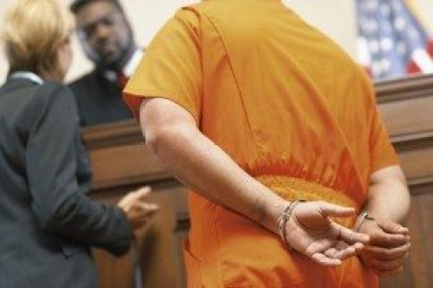 cuffed defendant
