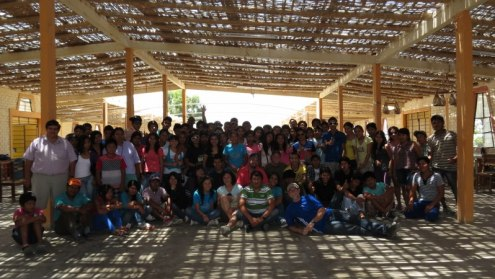 Some of the youth who attended the Pisco - Cross Street Youth Camp and the Peru mission team.