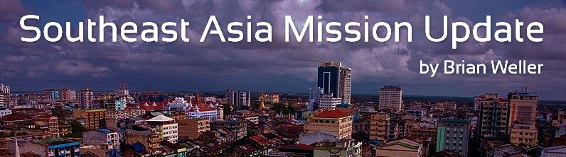 High level aerial view of Yangon Myanmar or Burma