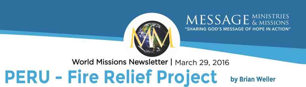 2016 March - Message Min Newsletter Banner